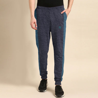 Funky's Melange Mix Contrast Panel Jogger Pants
