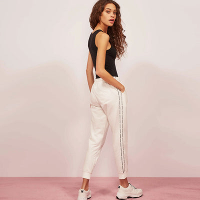 Follow Your Way Cross Pocket WOMEN TERRY JOGGER PANTS W30-36