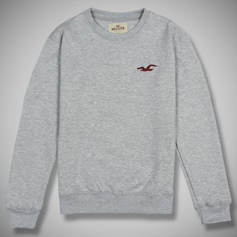 Solemn premier logo Gray fleece sweat shirt