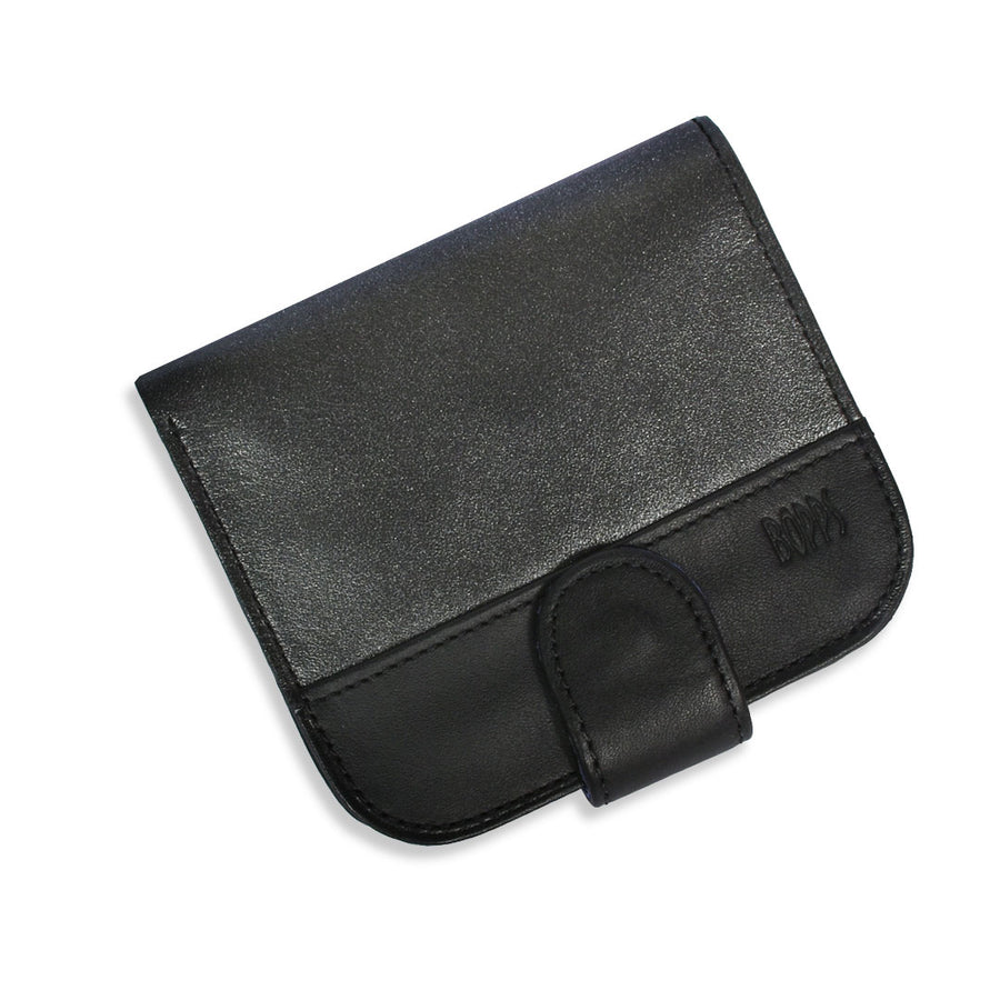 MINI BLACK CHARCOAL CONTRAST LEATHER WALLET