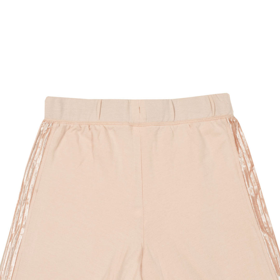 Women Velvet Panel Side Stripe Peach Trouser (W32 to W50)