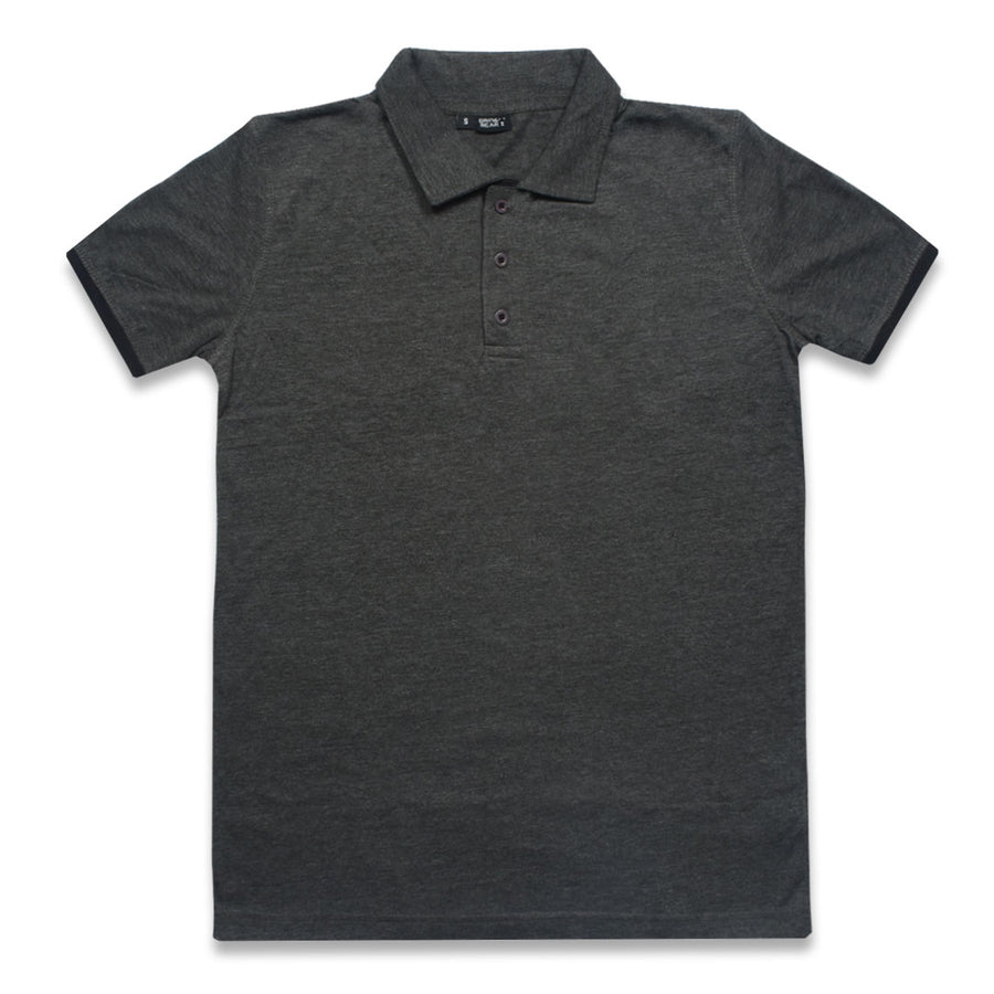G&B Super Duper Charcoal Polo Shirt