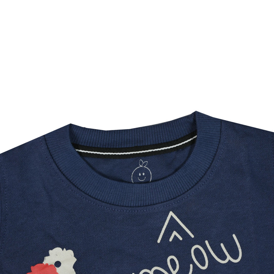 kid's You Meow Me Meow Printed Navy SweatShirt ( 1YEARS to 12 YEARS)