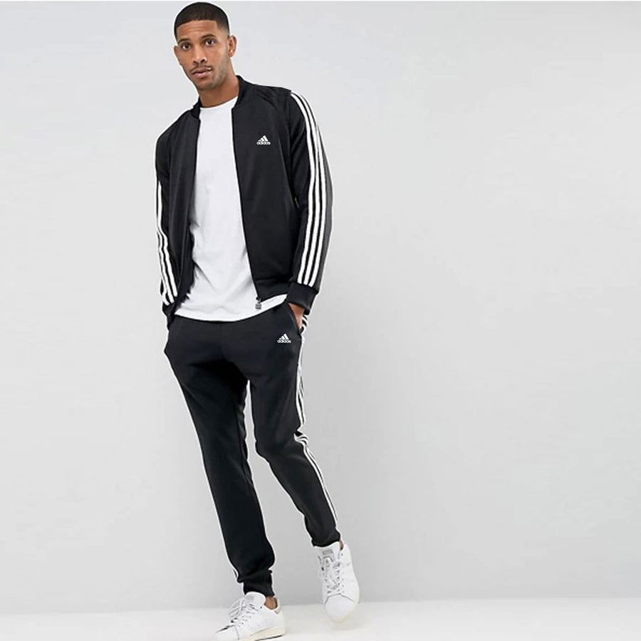 Signature 3 stripes prime black/white Track suit