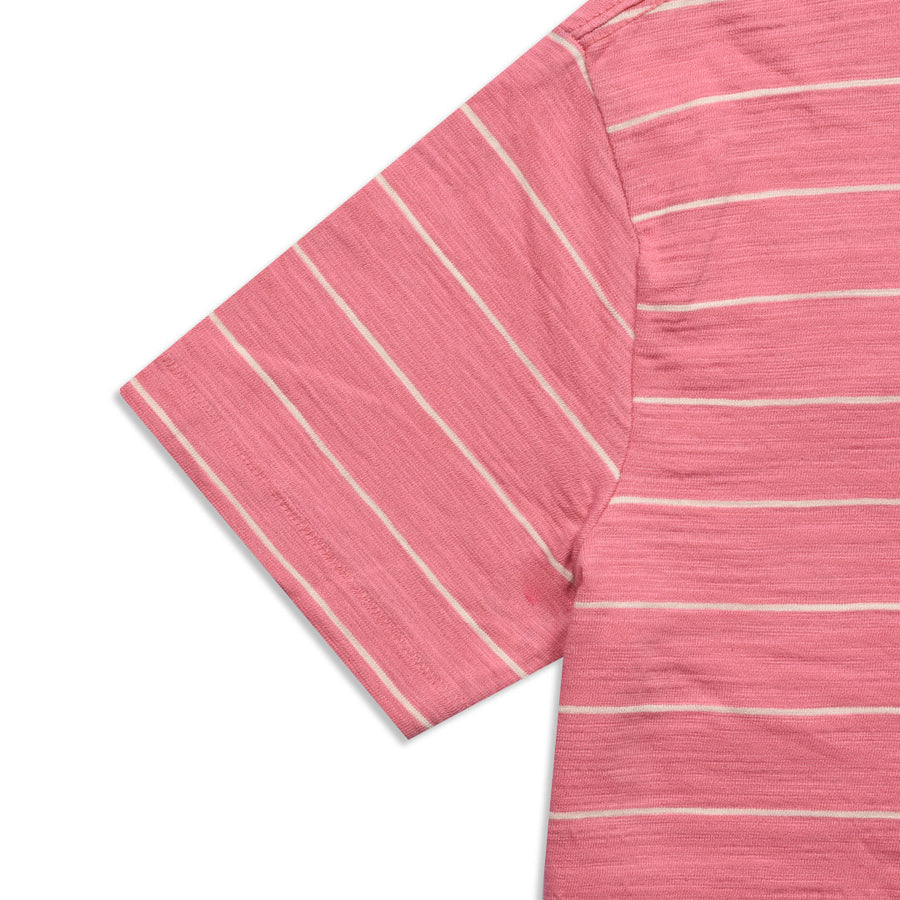 Funky's Yarn Dyed pink Horizontal Striped Tee