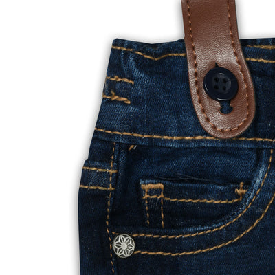 Kids Gallus Suspender Faded Navy Denim (2 YEARS TO 10 YEARS)