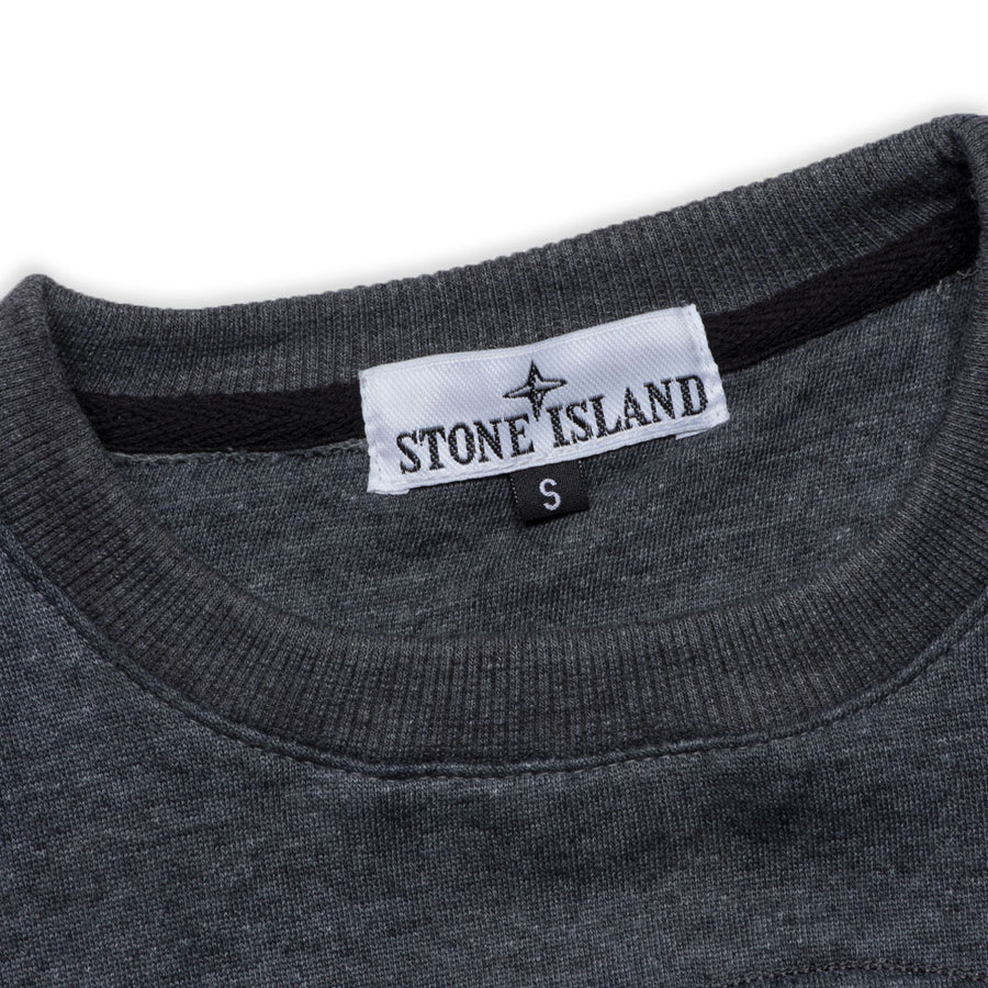 SI EMBOSSED LOGO PLAIN CHARCOAL SWEATSHIRT