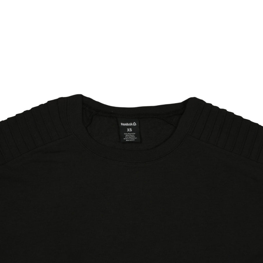 Women Classic Shoulder Black Sweat