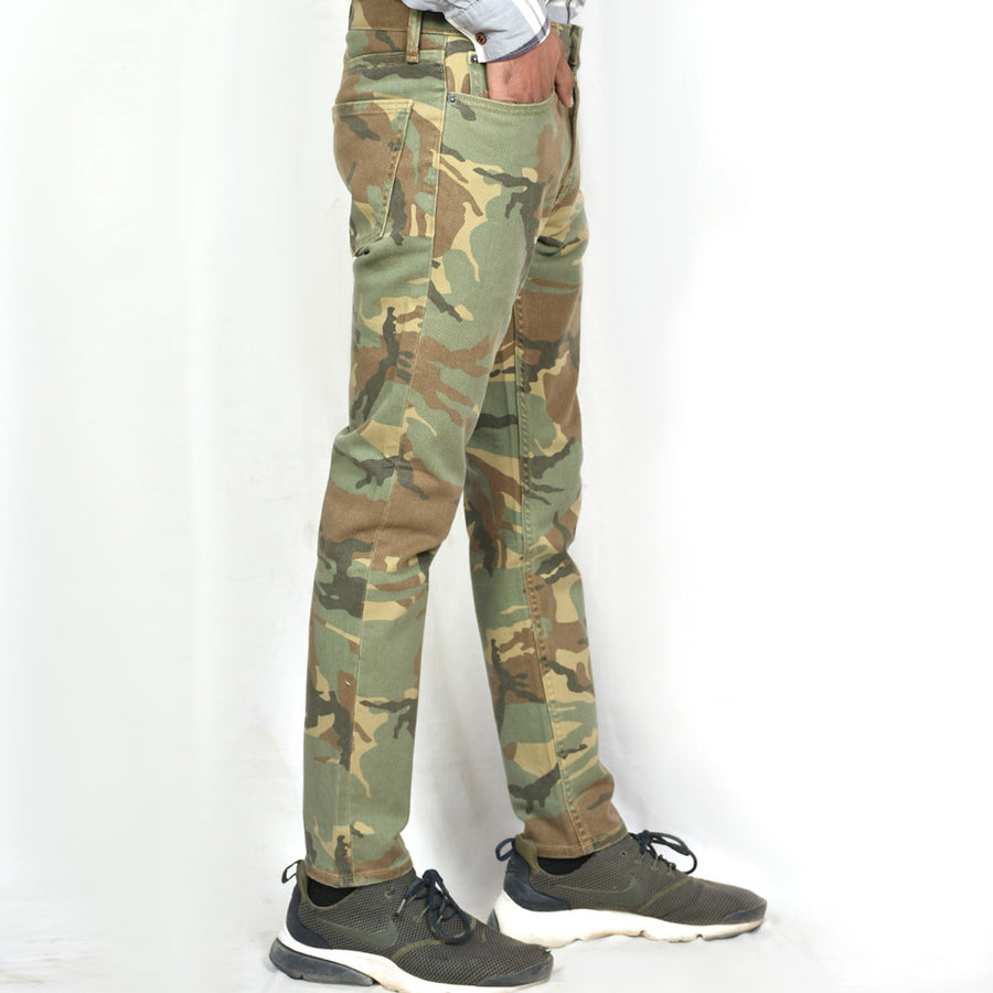 Men Relaxed Slim Taper Camo Pant (W30 to W50)
