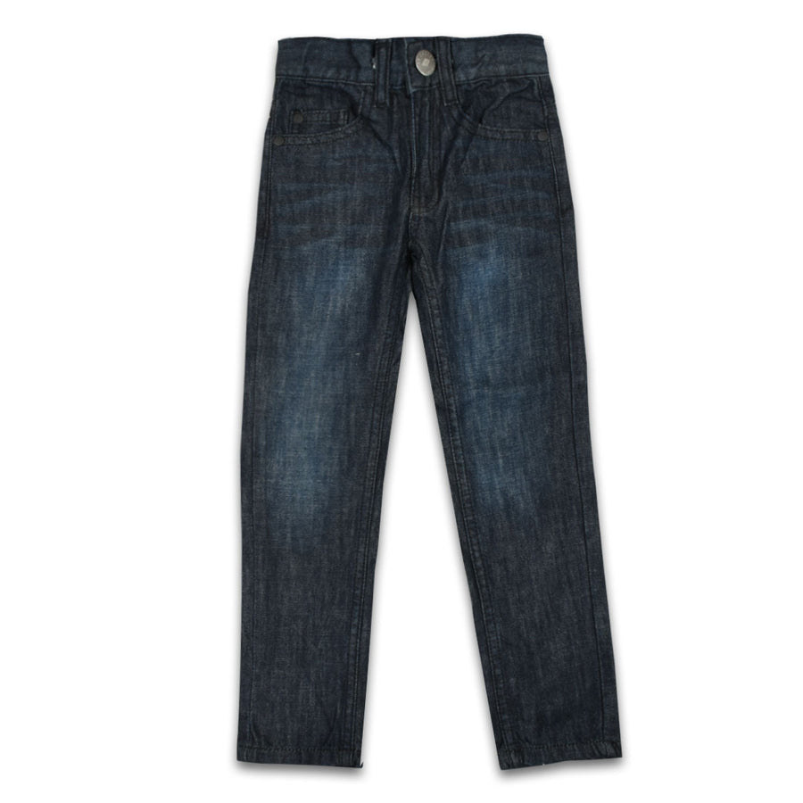 BOYS Basic premium SLUB NAVY BLUE denim (2 years to 13 years )