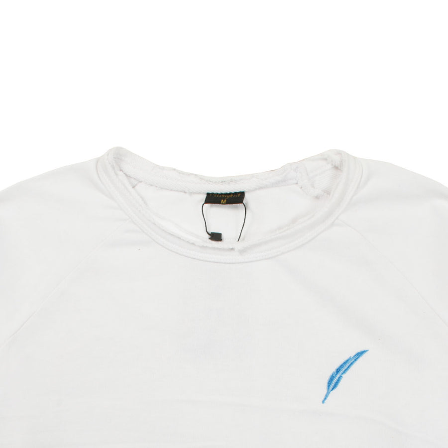 Free Edge Crew Neck Feather White Sweat