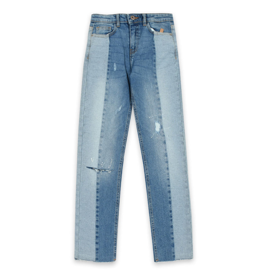 Women High street fashion crop denim (waist 24-34)