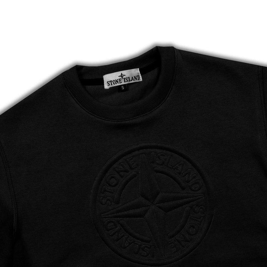 SI Embossed Logo Plain Black Sweatshirt