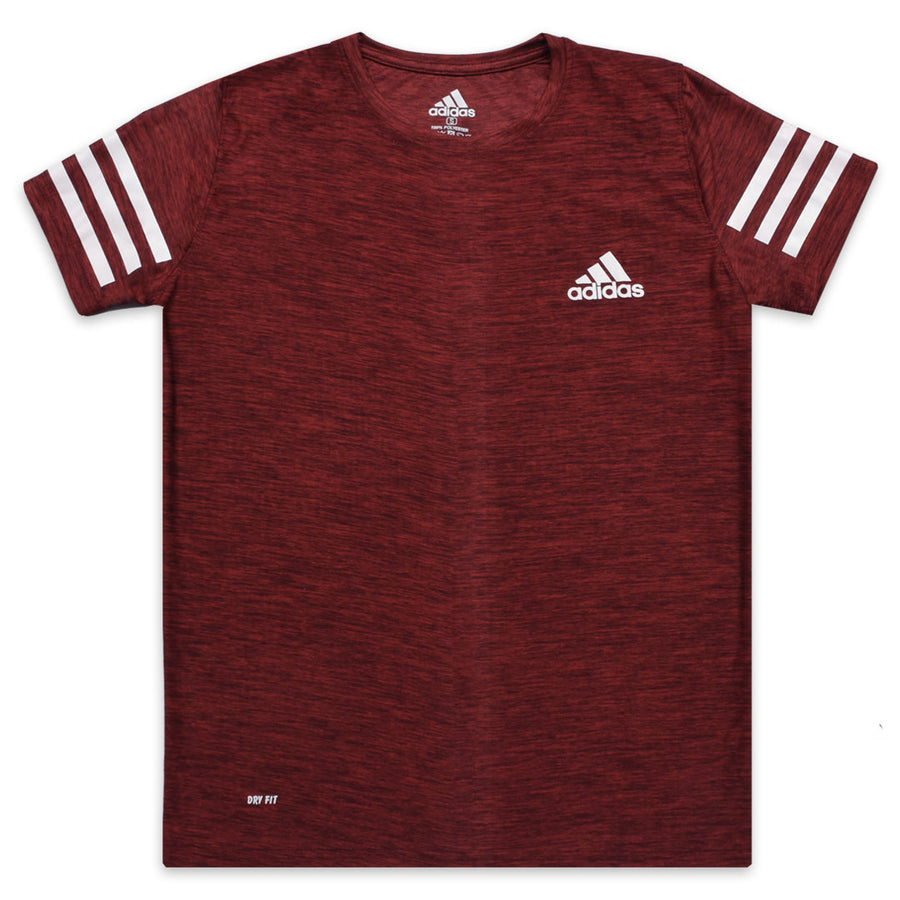 ADS DRY FIT MAROON T-SHIRT