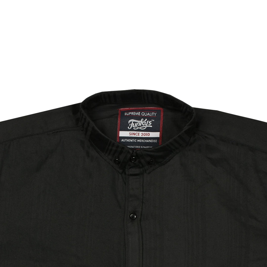 Funky's Black Semi Formal / Casual Shirt WITH MINOR FAULT