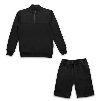 PARAGON BLACK TRACKSUIT WITH SHORTS