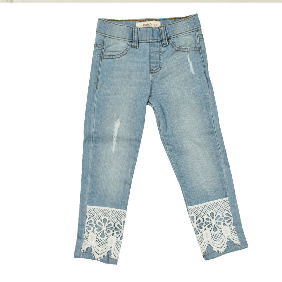 Girls Fashion Bottom Flex Denim