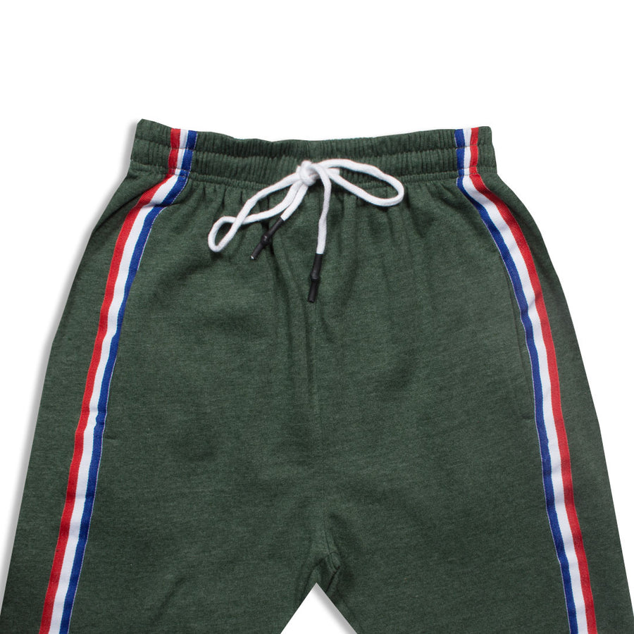 P&B Side Striped Green Zipper Bottom Trouser