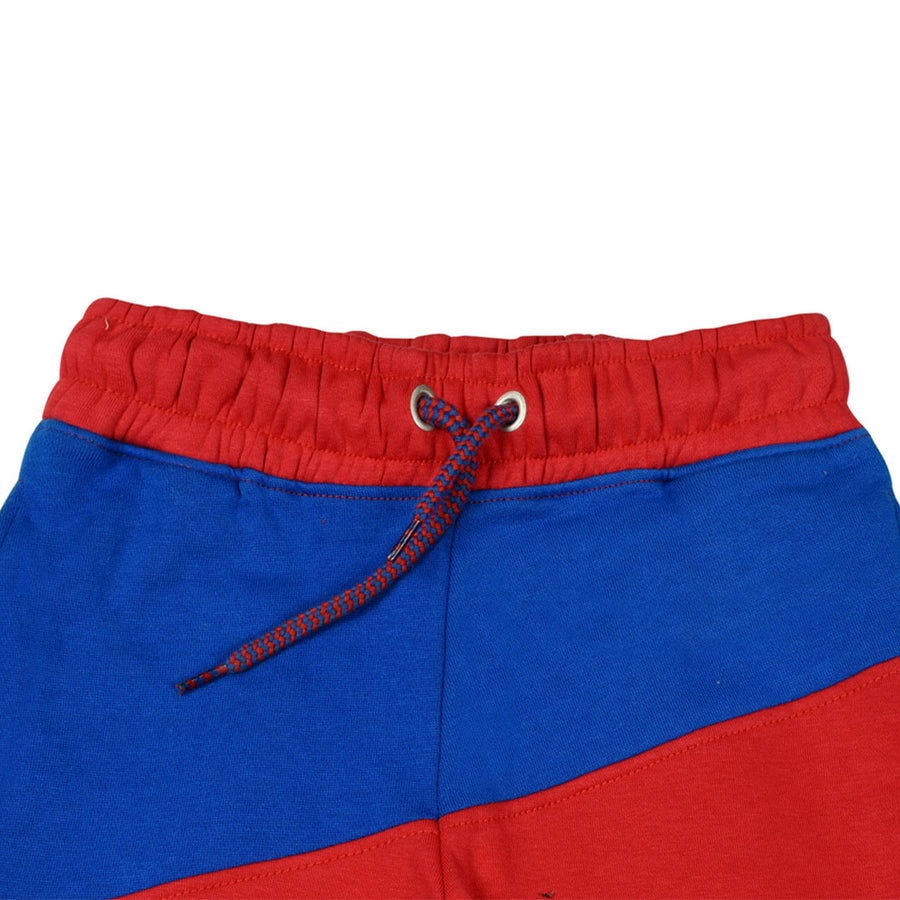 Boys Color Block Red Trouser