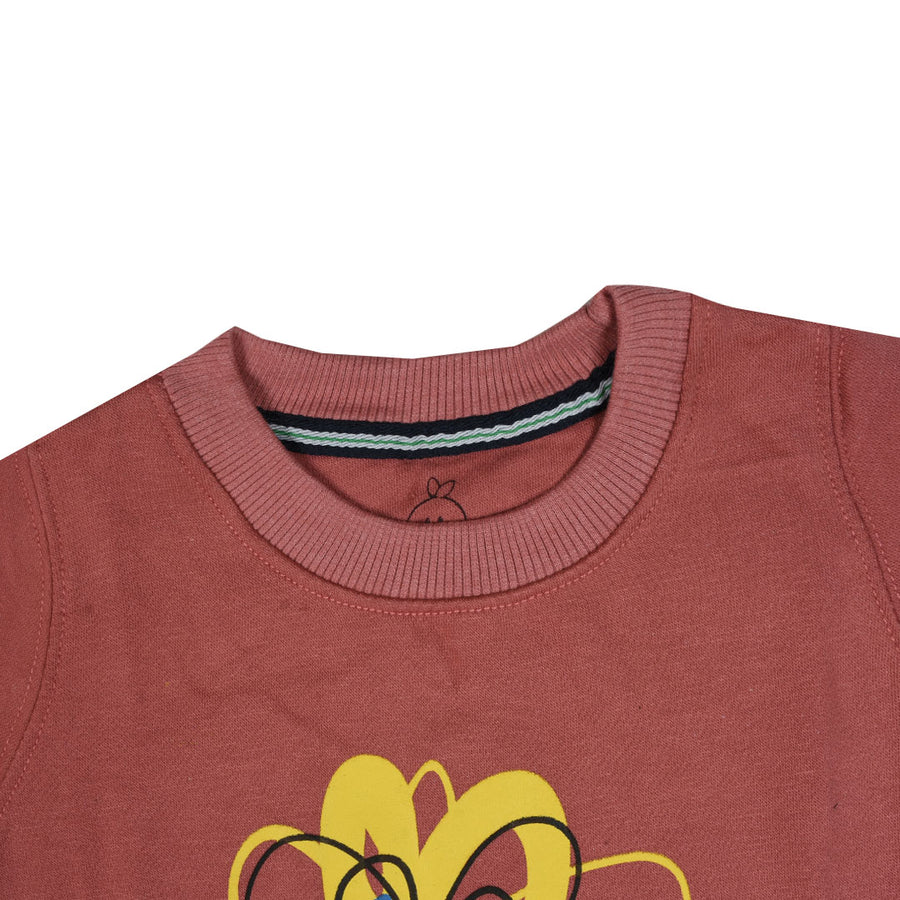 kid's Flower Printed Coral SweatShirt (1 YEARS to 12 YEARS)
