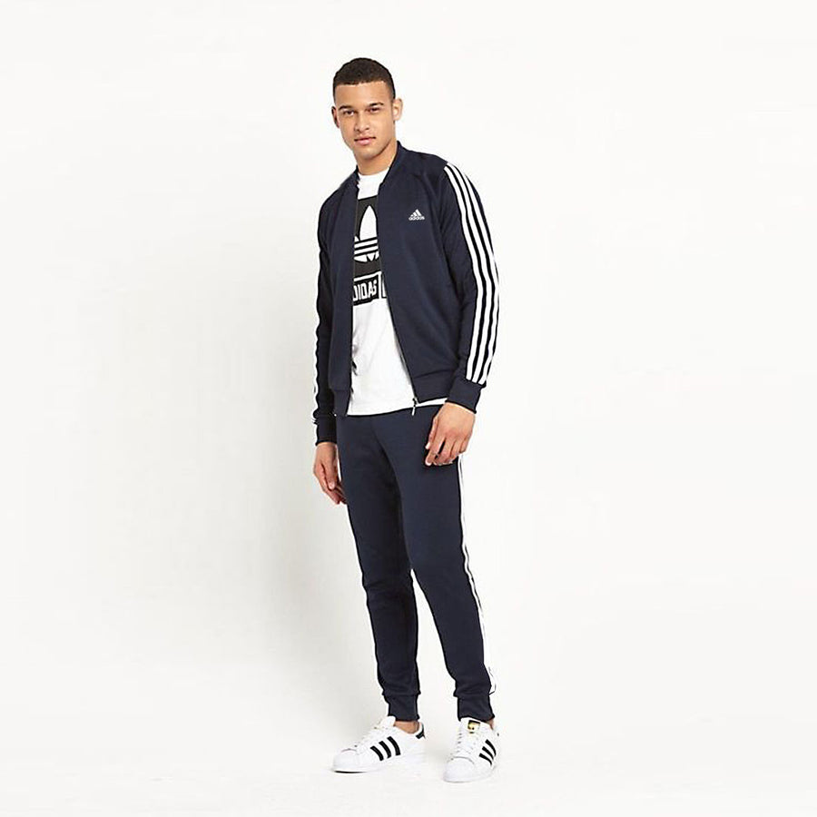 Signature 3 stripes prime collegiate navy/ white Track suit