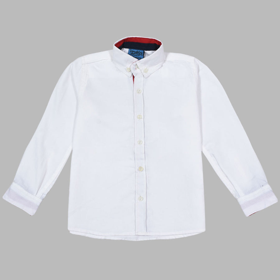 Kids Premium White Semi Formal Casual Shirt (12 Months To 14 Years)