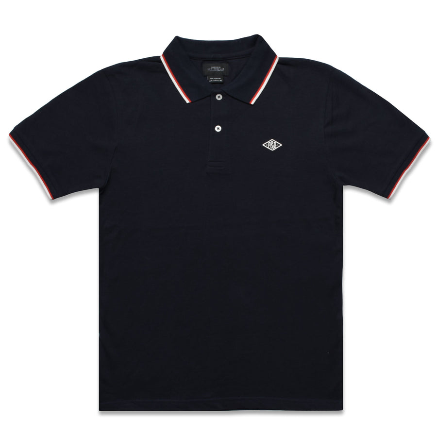 Tipped Collar DARK NAVY Pique Polo Shirt