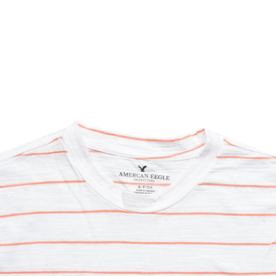 Yarn Dyed White Horizontal Striped Tee
