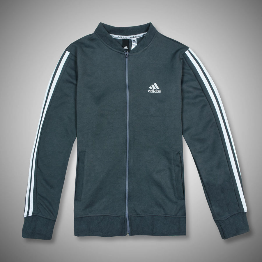 SIGNATURE 3 STRIPES PRIME COLLEGIATE GRAY/ WHITE TRACK SUIT
