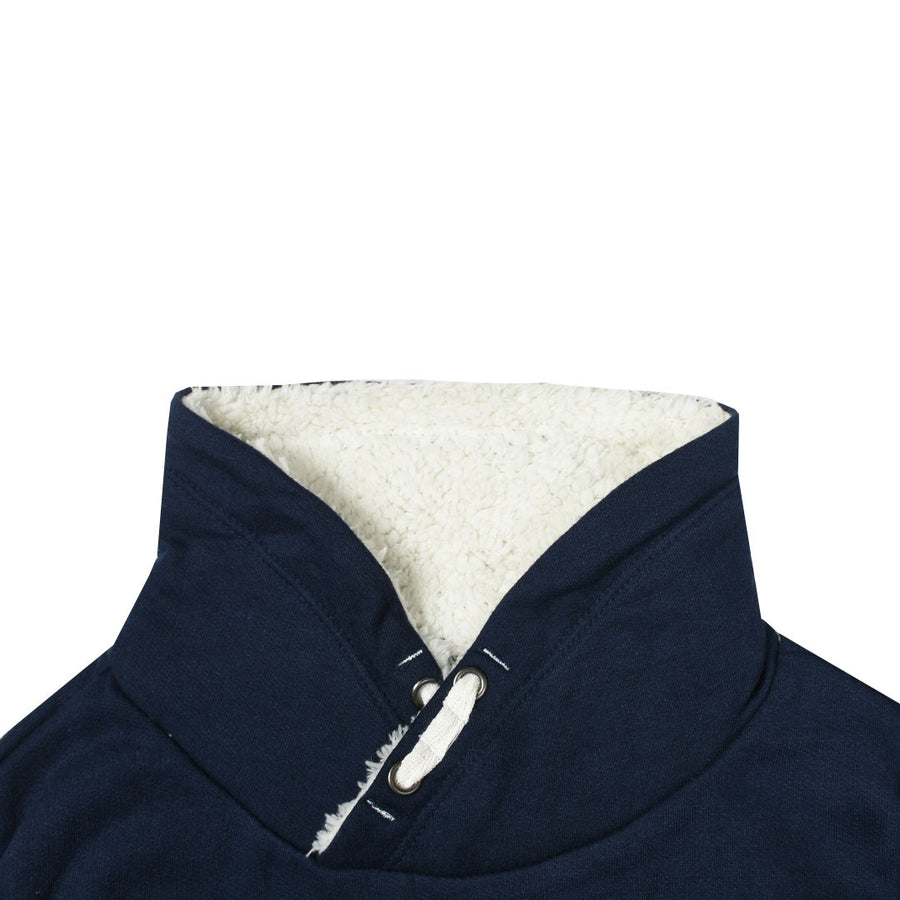 Kids Furry Neck Trendy Navy Sweatshirt (3 YEARS TO 10 YEARS)