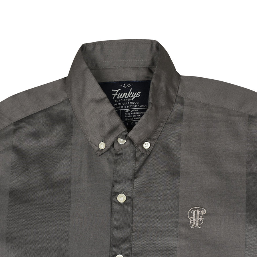 Funky's Oxford Grey Stripe Shirt
