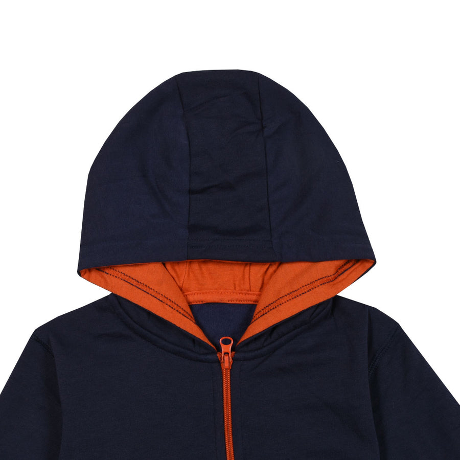 Rock n Roll Kid's Dark Navy Hoodie (2 YEARS TO 6 YEARS)