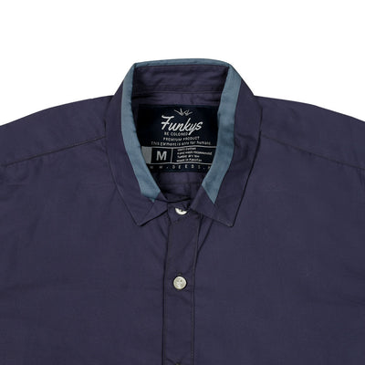 Funky's Designer Collar Purple Shirt