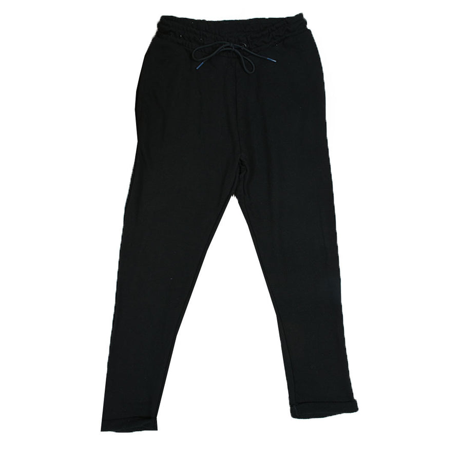 Women black crop fit  Ribbed bottom jogger pants