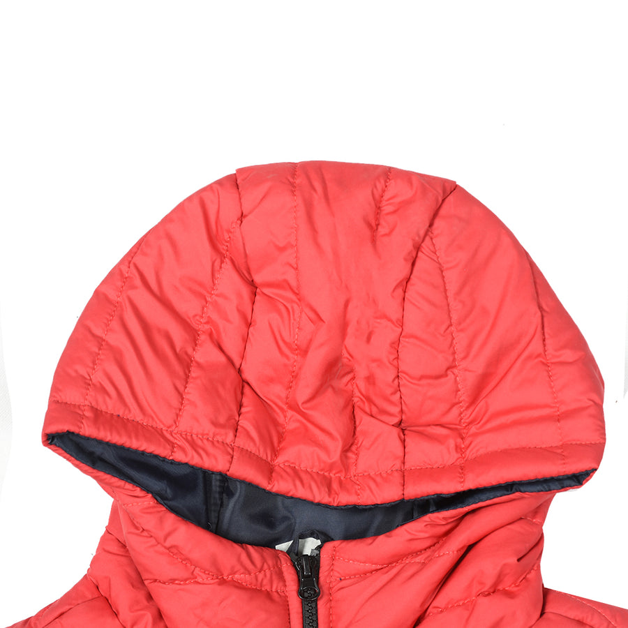 Funkys Packable Hooded Red Puffer Gillet