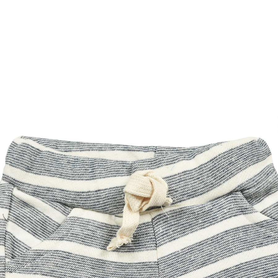Baby Slub-knit Stripes Comfy Shorts