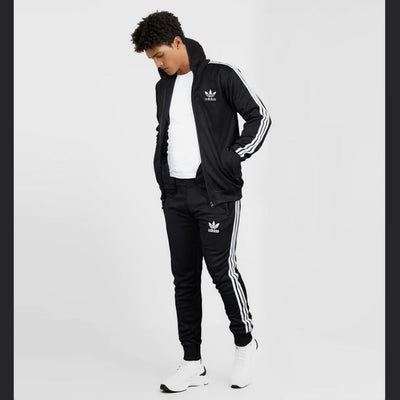 ADS BLACK WHITE STRIPED TRACK SUIT