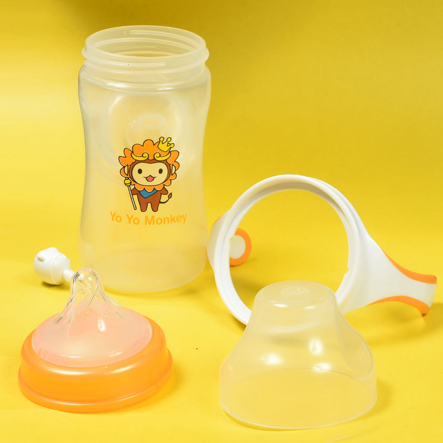 2 in 1 Interchangeable Orange Training Cup (240 ml / 9oz)