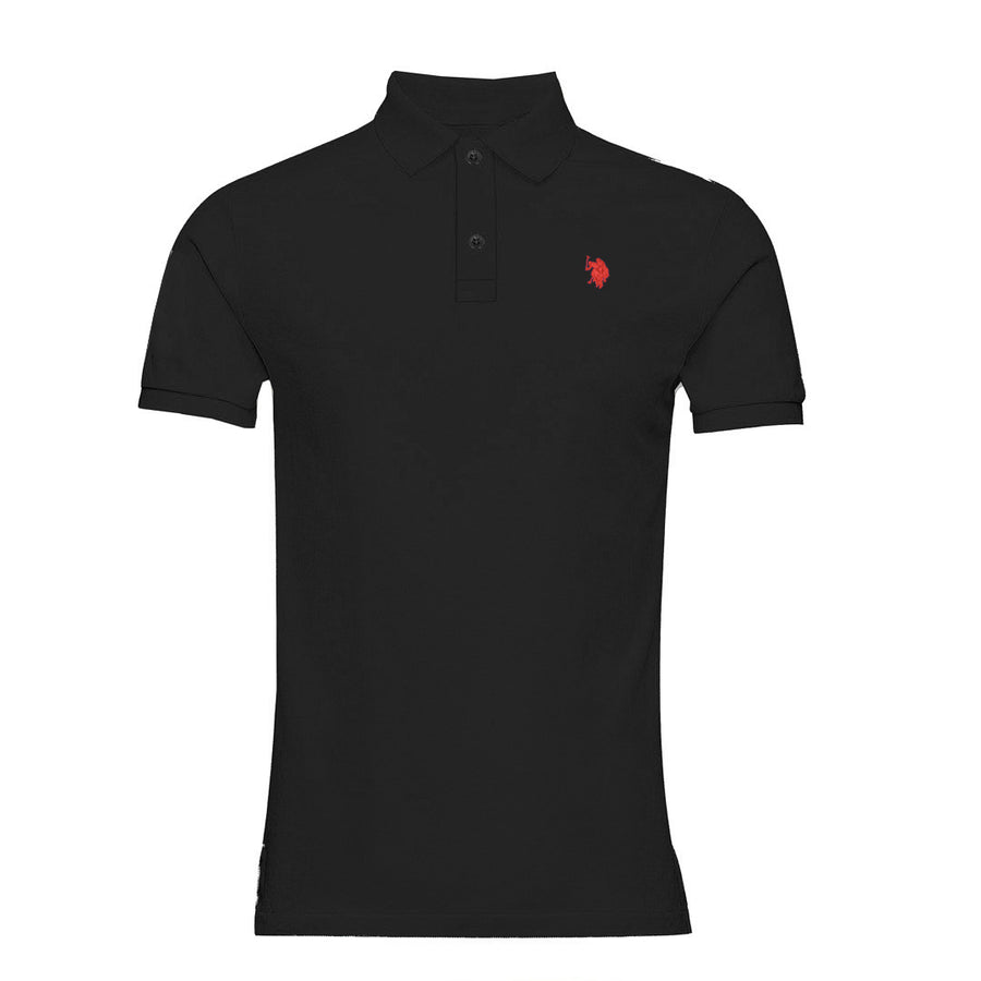 Men's Essential Slim Fit Black Polo