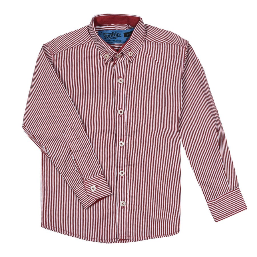 FUNKYS KIDS COTTON RED STRIPE SHIRT (WITH MINOR FAULT)