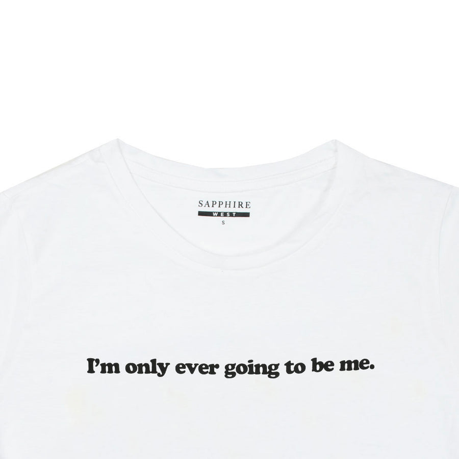 Women I'm Only ever going Chest Printed Soft T-Shirt