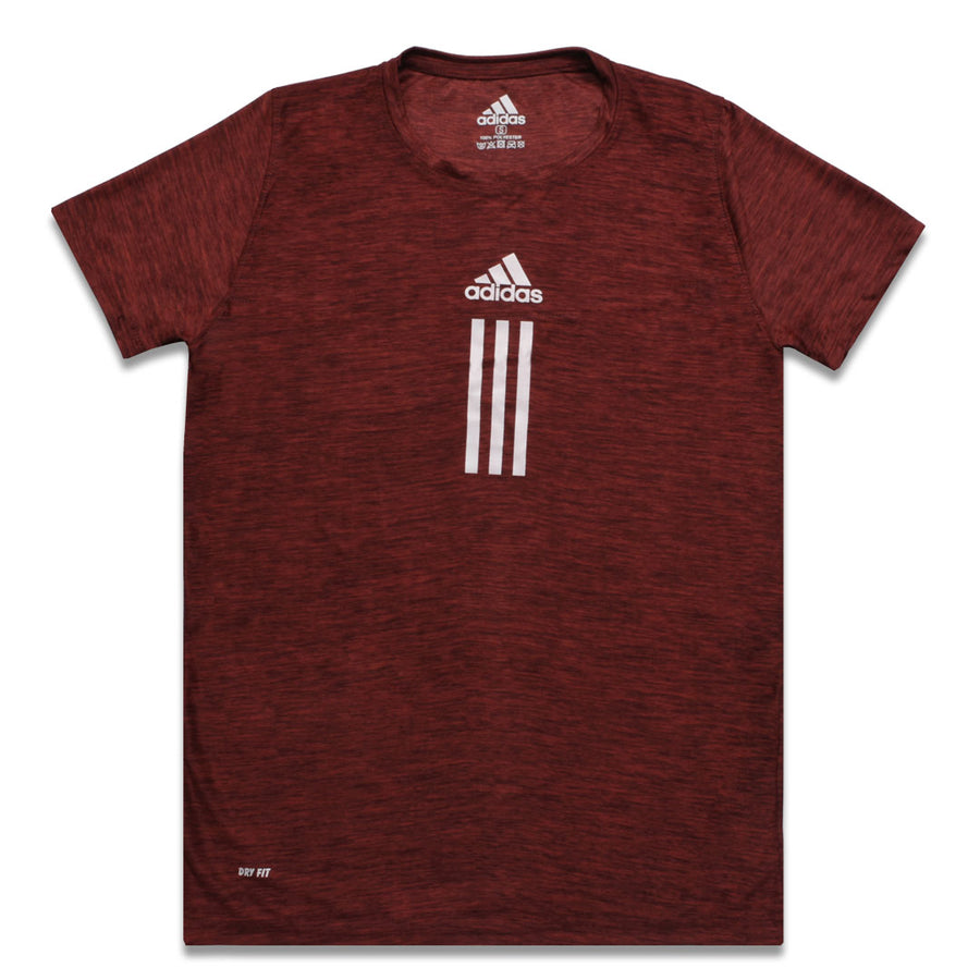 ADS MAROON PRINTED LOGO CREW NECK T-SHIRT