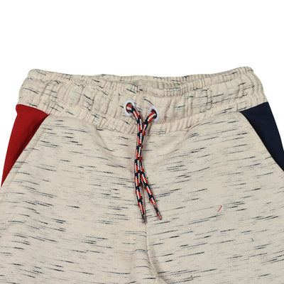 Boys Color Block Slub WHITE Trouser