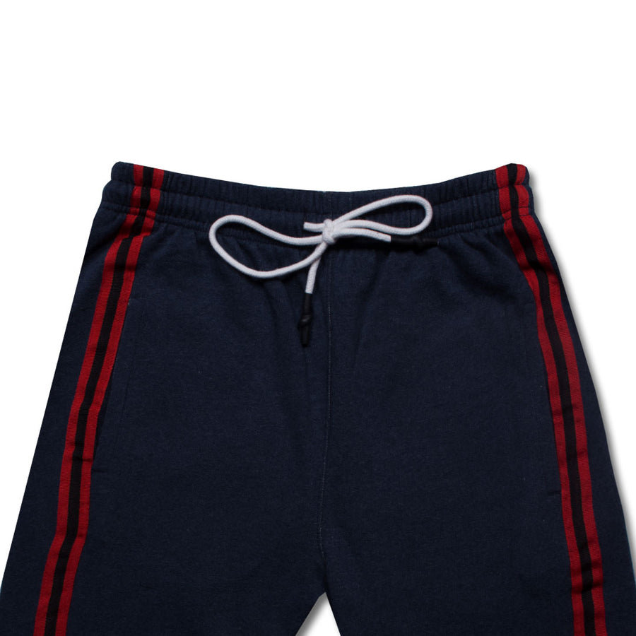P&B Side Striped Dark Navy Zipper Bottom Trouser