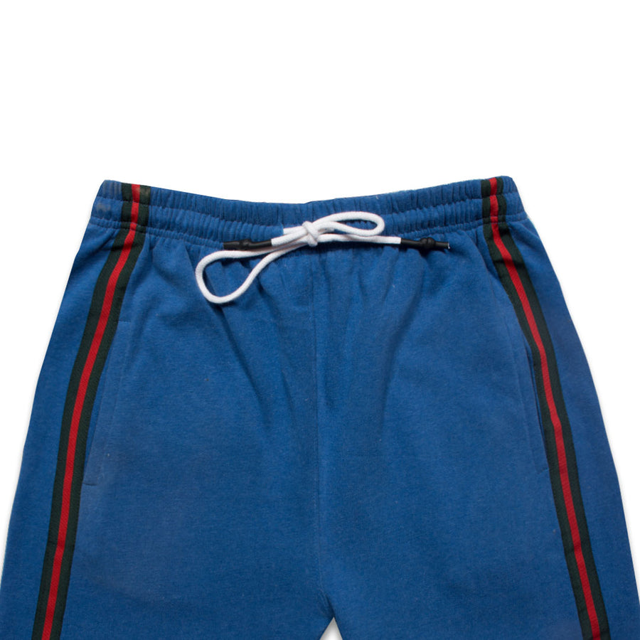P&B SIDE STRIPED Blue ZIPPER BOTTOM TROUSER