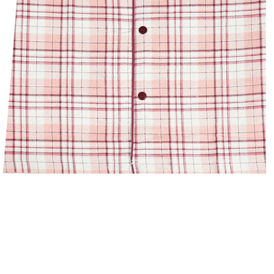 Women's Oxford Check Night Wear Light Pink Suit