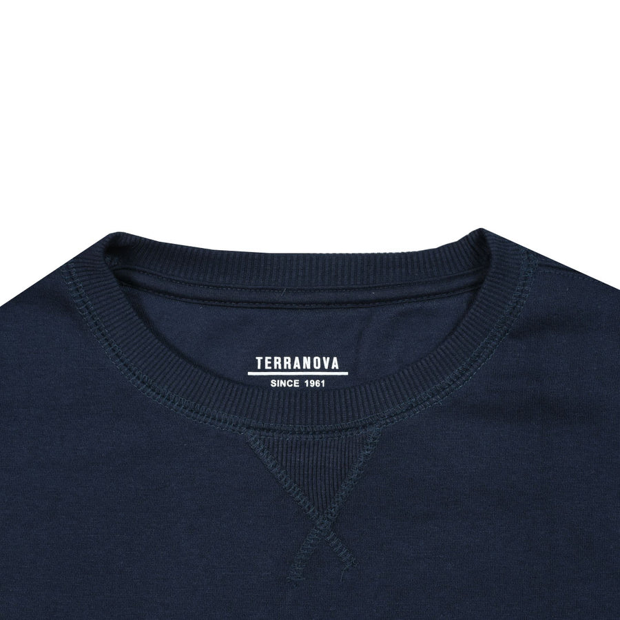 Fleece Made Comfort Navy Sweat Shirt