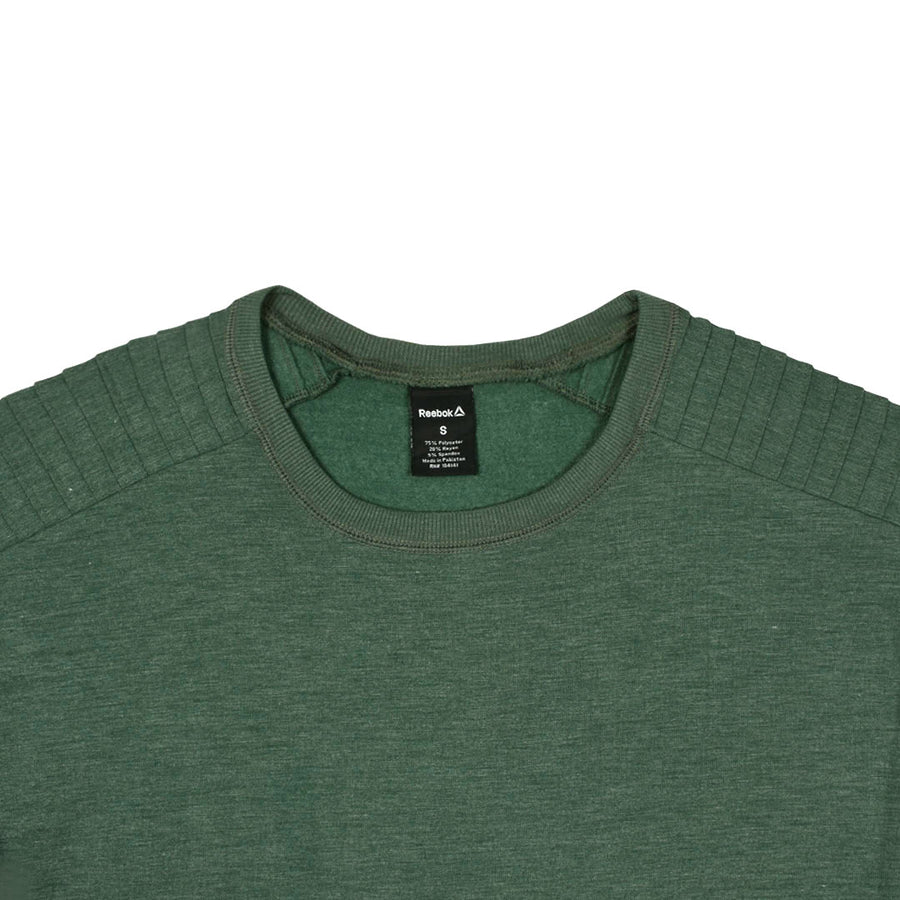 Women Classic Shoulder Slub Green Sweat