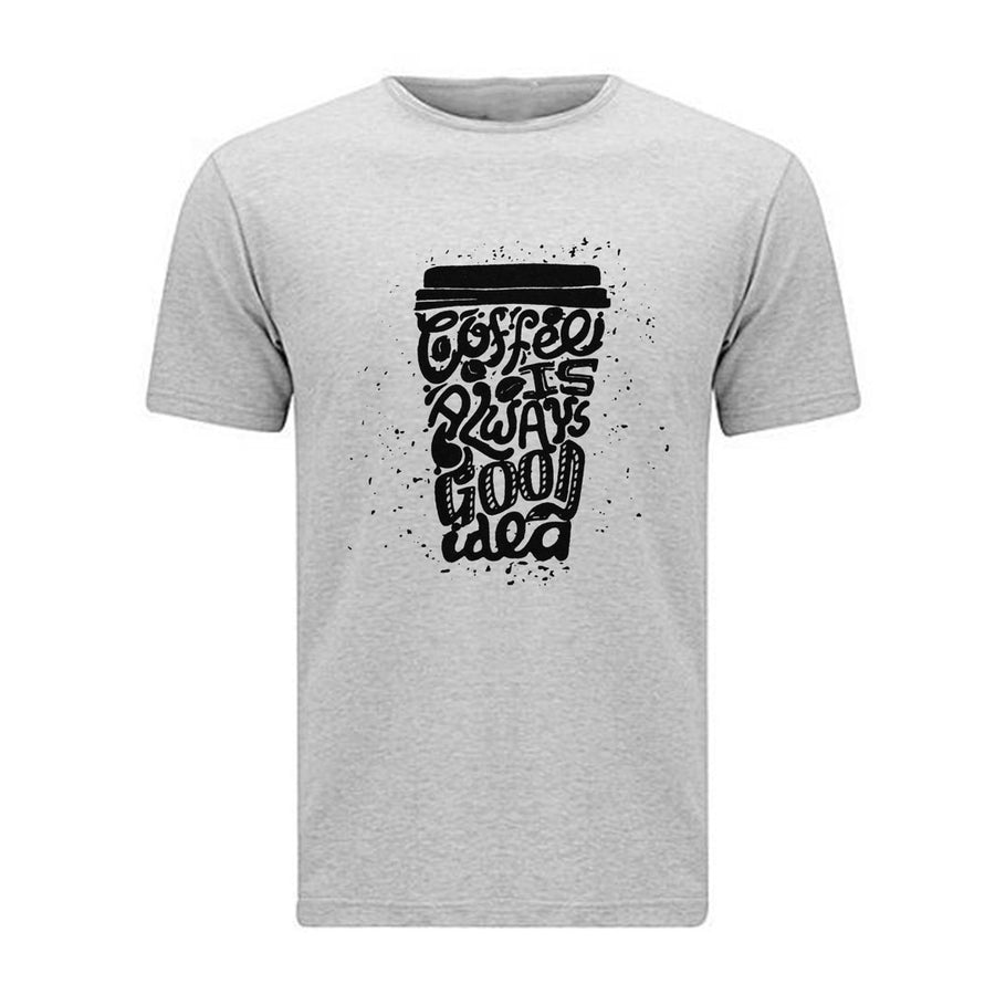Coffee Lover Light Grey Tee