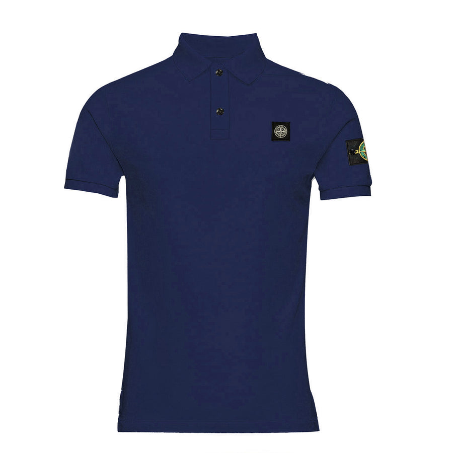Flex Trait Navy Polo